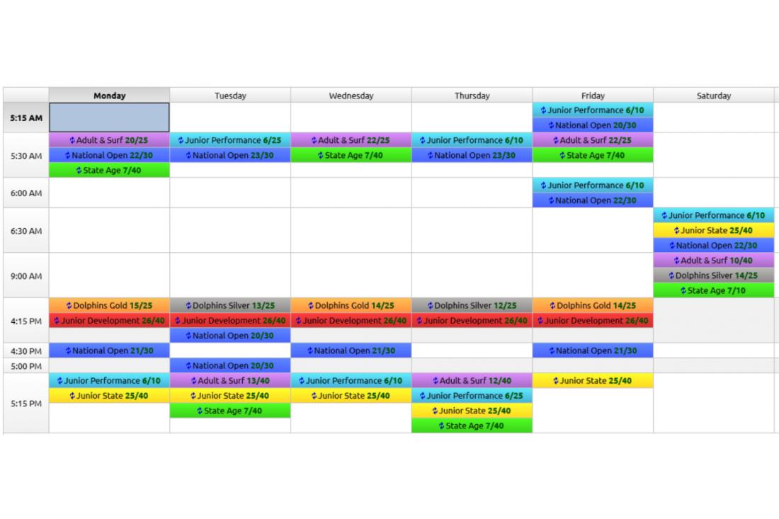 SBSC Timetable
